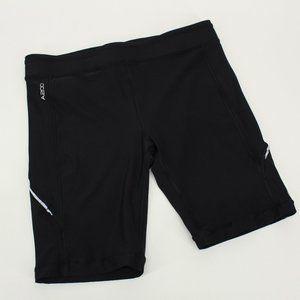 Skins Black Spandex Biker Shorts
